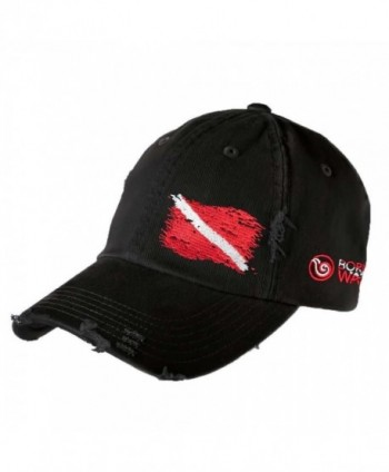 Scuba Diving Ripped Flag Distressed Hat: Born of Water - Freedive  Diver  Spearfishing - CE11OV9FMLP