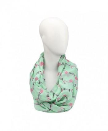 DEESEE(TM) Women Ladies Flamingos Pattern Print Voile Wrap Shawl Scarf - CR12N14DCIP