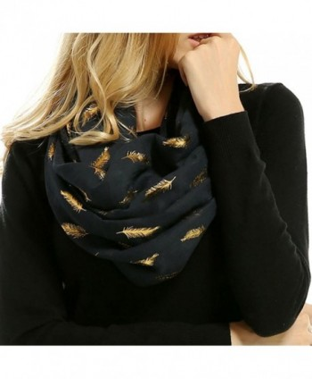 Women Feather Lightweight Bronzing Scarves