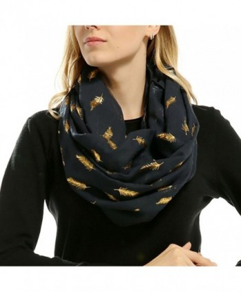 Women Feather Lightweight Bronzing Scarves in Cold Weather Scarves & Wraps