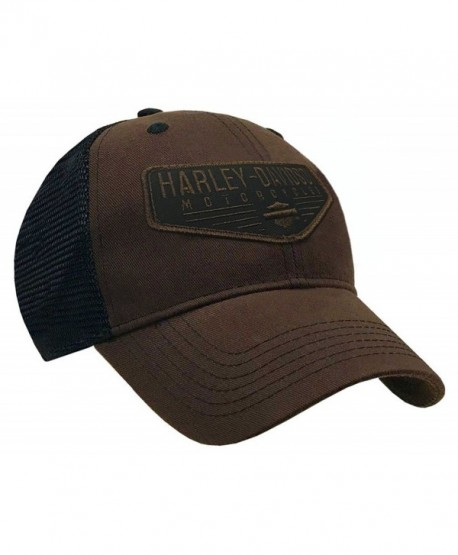 Harley-Davidson Men s Renowned Patch Baseball Cap- Brown Stone Washed  BCC21139 - CS17YZW2TYW c052f48083c