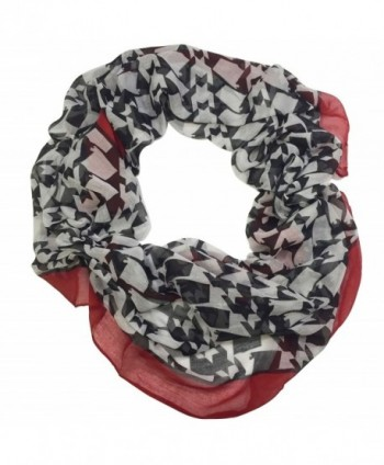 Alabama Shaped Houndstooth Lightweight Thin Poly Infinity Scarf - Roll Tide Pride - Houndstooth - C812N1KMEH7