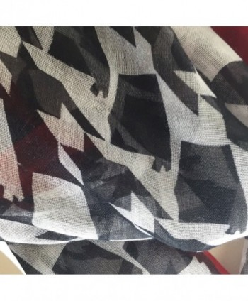 Alabama Shaped Houndstooth Lightweight Infinity in Fashion Scarves
