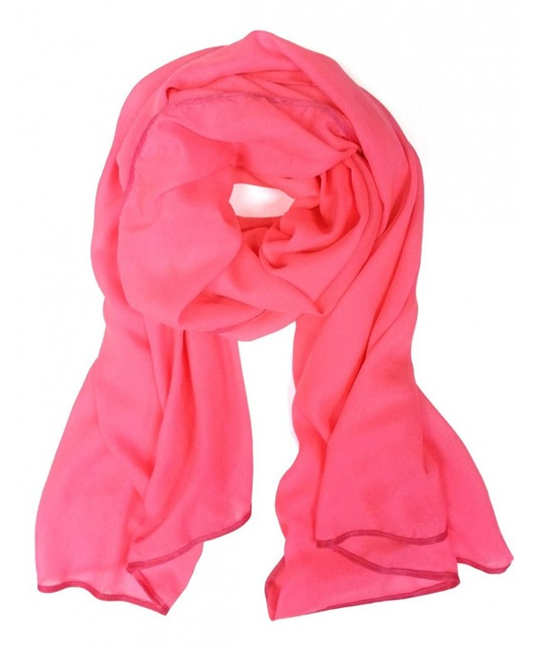 Fashion Polyester Solid Long Scarf(All 3 Colors Available) - Neon Pink - C311DEYJIOP