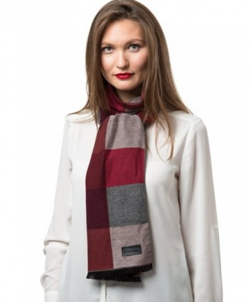 Mio Marino Winter Cashmere Feel Women Scarf- 100% Cotton Fashion Scarves- In Elegant Gift Box - Plaids - CX186DXQARS