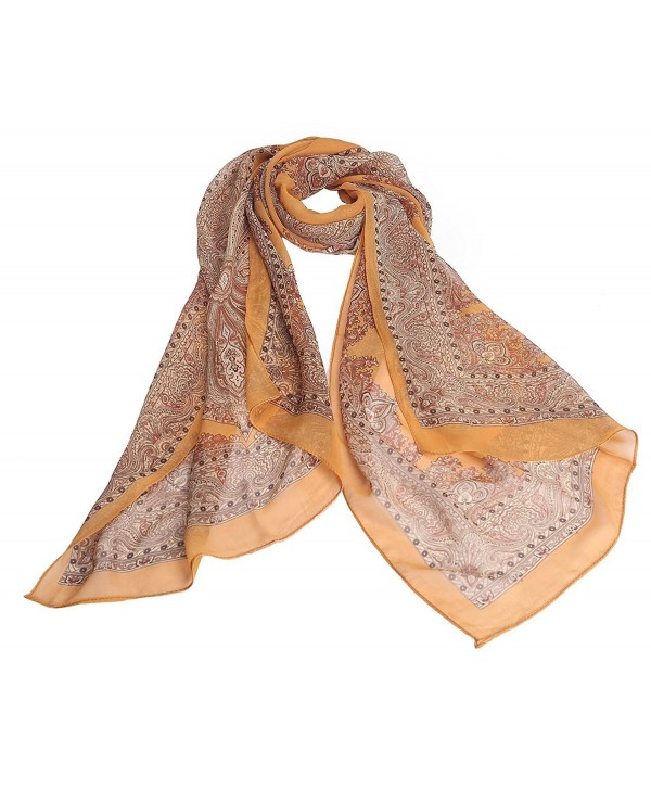 Jemis Women's Retro Scarf - Orange - CS11WCOLXU5