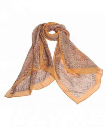 Jemis Womens Retro Scarf Orange