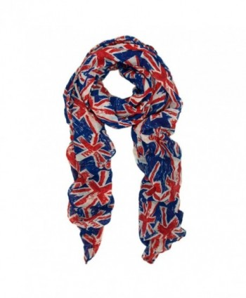 UK British Flag Union Jack Small Print Fashion Scarf - Diff. Colors Avail - Blue - CX11FTCGJD3