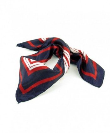 White Stripe Print Kerchief Square