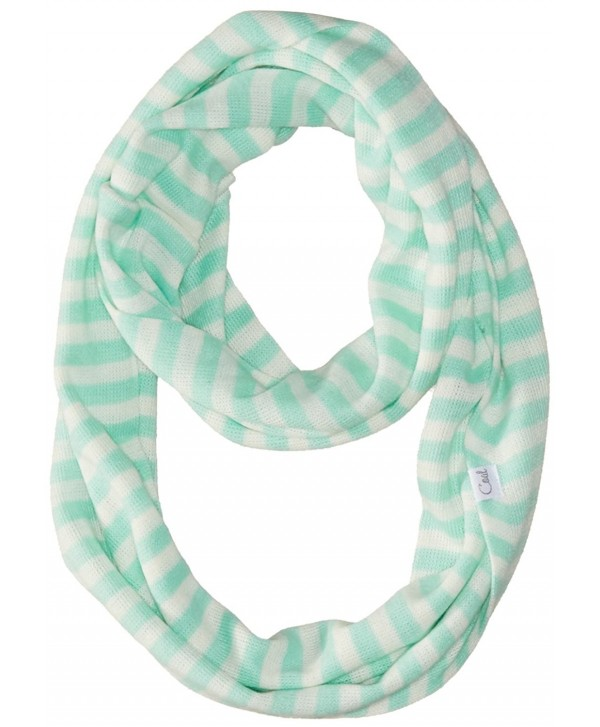 Coal Women's The Jessie Fine-Knit Eternity Scarf with Stripes - Mint - CL11V8E9EIN