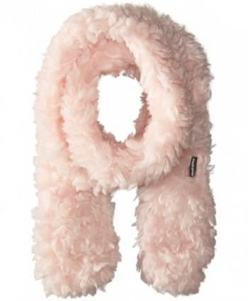Muk Luks Women's Rustic Romance Long Skinny Scarf-Fuzzy - Light Pink - CE12F6B23HH