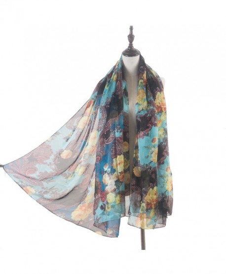 Aquazolax Women Sheer Floral and Paisley Long Scarf - 1-2 - CC1872R4GH9