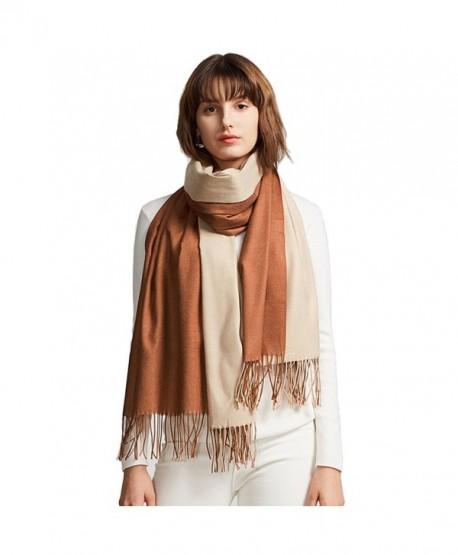 Winter Women Fashion Shawl Cashmere Feel Scarf 2 Tone Large Long Scarves - 03 - CC186KGIYIM