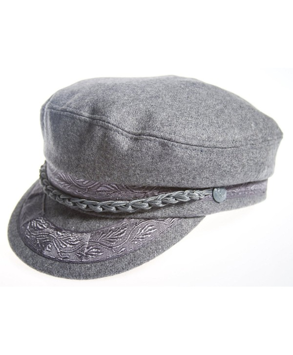 Aegean Authentic Greek Fisherman's Cap - Wool - Grey - Size 60 - (7 1/2) - CB11CLJF4KB