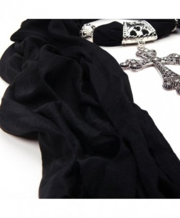 Elegant Cross Pendant Jewelry Necklace in Fashion Scarves