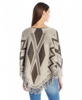 Fiorentina Womens Geometric Poncho Sleeves
