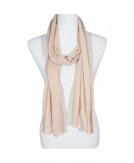 Zodaca Fashion Lightweight Soft Plain Solid Color Scarf for Women - 33 Beige - CH184QT9MHG