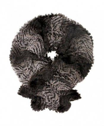 Gradient Plush Faux Fur Scarf - Brown - CT11C9B14P5