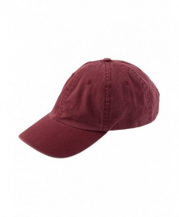 Alternative Men's Basic Chino Twill Cap - Maroon - CL114J4HAKH