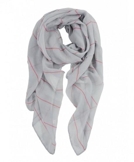 Womens Lightweight Fashion Striped Scarves - Fashion Striped Grey - CV187G30QSQ