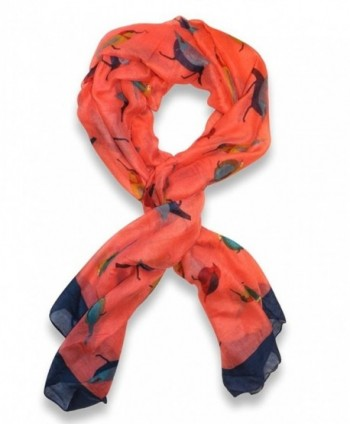 Womens Print Scarves 18595cm Orange