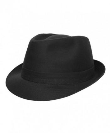 Classic Italy Trilby Trilby Hat - Noir - CU11B51XHI7