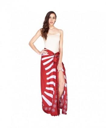 Summer Beach Buddha Wrap Sarong Pareo Tapestry - Maroon - CF12O0DXQZ2