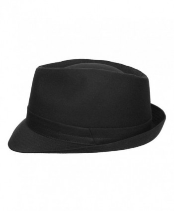 Classic Italy Trilby Size Black in Men's Fedoras