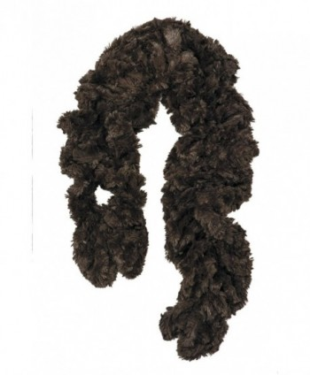 Womens Faux Fur Scarf Scrunchie in Cold Weather Scarves & Wraps