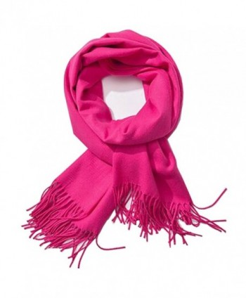 Soft Cashmere Feel Scarf- Bien-Zs Large Pashmina Shawls Wraps Winter Scarf for Women Men Gift - Pink - CA1880QKTCL