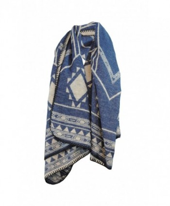 Poncho Winter Scarf Knitted Shawl in Wraps & Pashminas