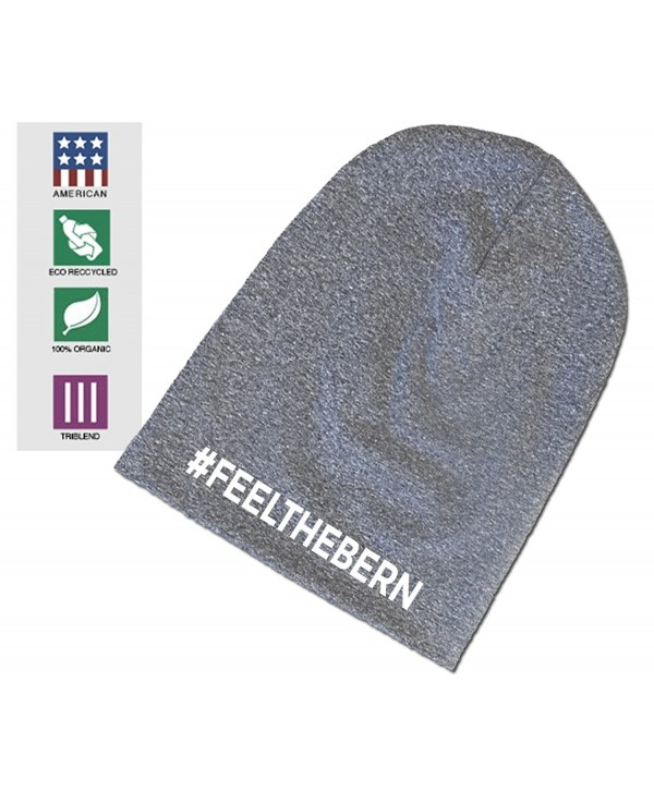 Expression Tees Feel The Bern Bernie Sanders Organic Eco Tri-Blend Beanie - Heather Light Grey - C712CS1MY7H