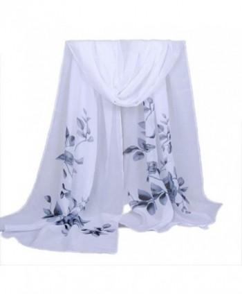 LEERYA Fashion Women Long Soft Wrap scarf Ladies Shawl Chiffon Scarf Scarves - Gray - CS12LVI8GRF