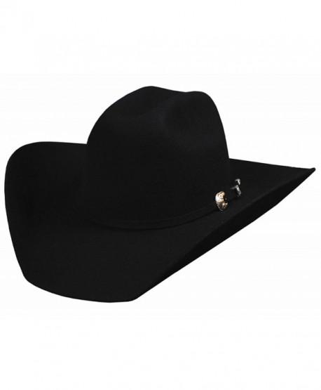 Bullhide Montecarlo KINGMAN 4X Premium Wool Westen Hat 6 7/8 Black - CW119D3O9GN