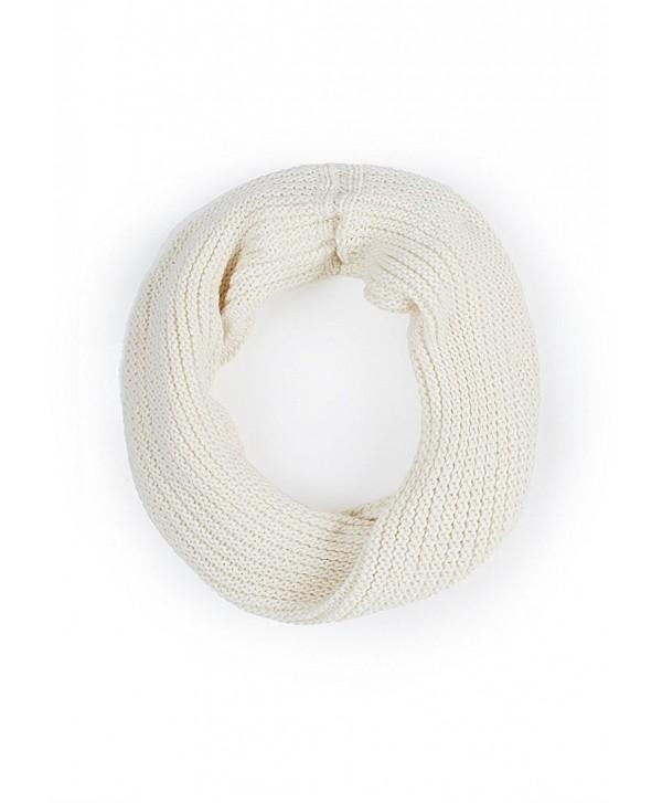 Isaac Mizrahi Link Stitch Chunky Twist Snood Scarf - Antique White - CG11AYV8NCD