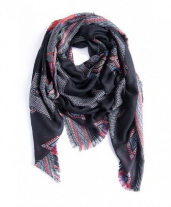"Amymode Women's Scarf Elegant Exotic Style 55"" X 55"" western-inspired royal pattern - CP12NS5E4TN"