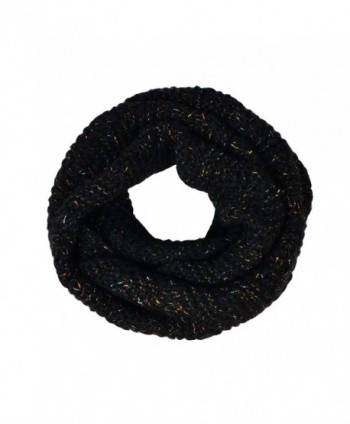 MATCH MUCH Infinity Scarf Chuncky Knitted Scarf Warm Thick Circle Loop - Black-style 1 - CA12NB7VALZ
