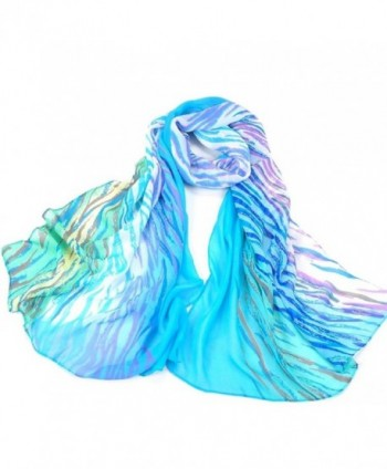 Sannysis Fashion Women Scarf Shawl Wrap Stole Warm - Blue - C1125RA7EZH