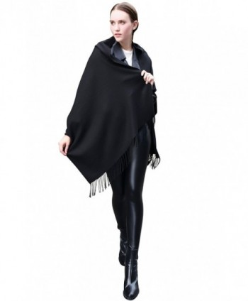 LANGBOHAI Womens Cashmere Scarves Oversized in Cold Weather Scarves & Wraps