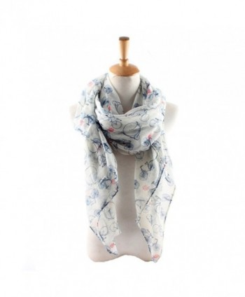 ctshow bicycle Print Voile Print Scarf Fashionable Women Scarves shawl - White - CG182H26X43
