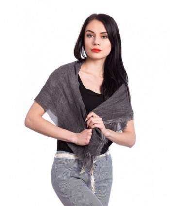 Abbino 1316 Unisex Scarves Shawls - Made in Italy - Summer Autumn Winter - Black - CC12NTS5Y0E