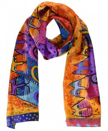 Laurel Burch Scarves- Feline Tribe - C611H16FC79