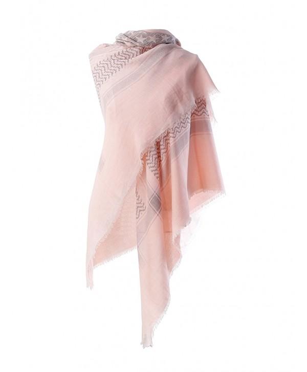 SeasonMall Women's 2016 New Fashion Scarves Painterprint Women Spring - Pink - C912E5GW6NP