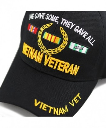 1100 Official Licensed Vietnam Veteran 3D Baseball Cap - Black Vet -  CQ186TK4GZM