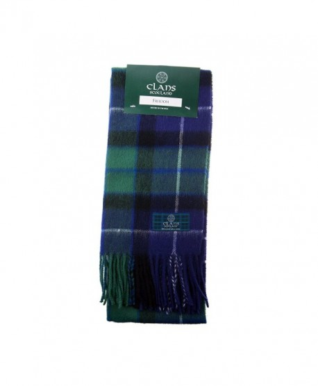 Clans Of Scotland Pure New Wool Scottish Tartan Scarf Freedom (One Size) - CC123H4DQCL