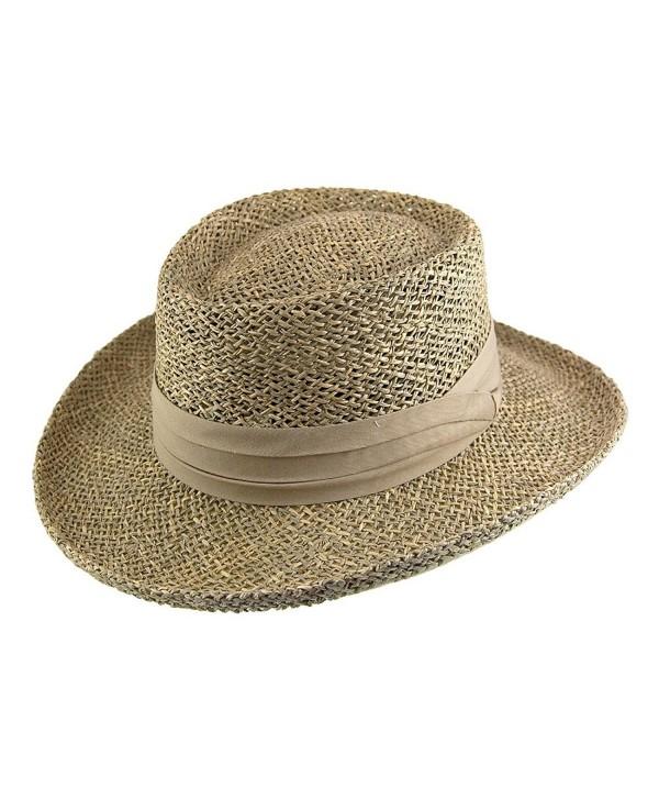 Jaxon Pebble Beach Gambler Hat - Seagrass - C3118GSVM6B