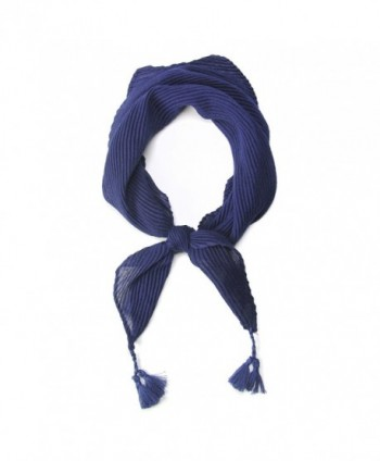 Women's Bandanas Neckerchief Scarf with Tassels. - Navy - CO182SXH9HC