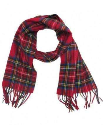 Ingles Buchanan 100% Wool Plaid Scarves - Made In Scotland - 12 Tartan Choice - Royal Stewart - CL11HANW58L