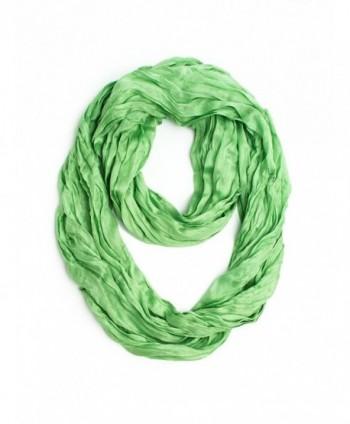 Bohomonde Lydia Scarf- Silk/Cotton Crinkle Infinity Scarf - Celery - C812FJPDEC3