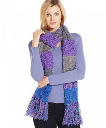 Charter Club Women's Mixed Media Chenille Oblong Scarf - Blue Acai - CT12CLRZO4D